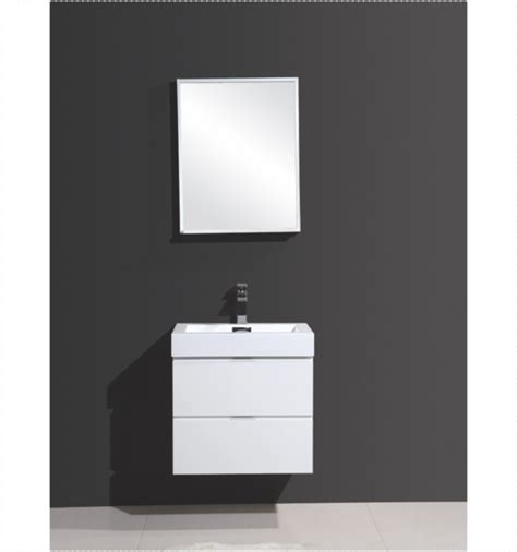 Modern Bathroom Accessories Canada by Bliss 24 Quot Kubebath High Gloss White Wall Mount Modern