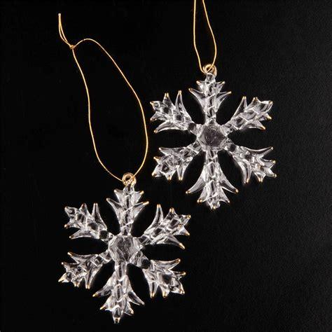 2 luxury large crystal glass snowflakes christmas