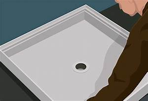 Steps to install a shower pan at the home depot for Installing a shower tray on concrete floor