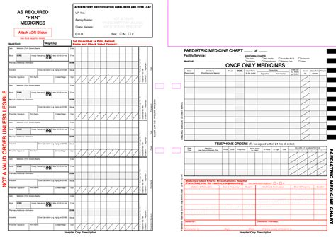 Printable Patient Chart For Medication Pictures To Pin On