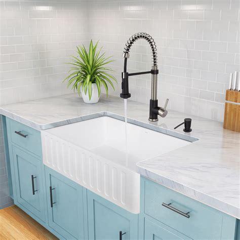 vigo matte stone farmhouse kitchen sink vigo 30 inch farmhouse apron single bowl matte stone