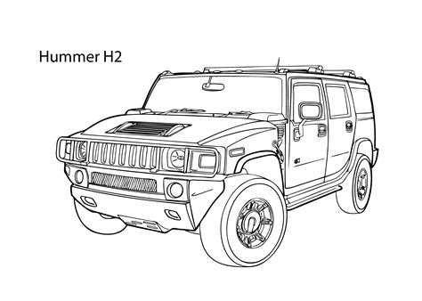 hummer coloring pages  coloring  kids