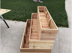 How to Build a Tiered Garden Planter Box Chris Loves Julia