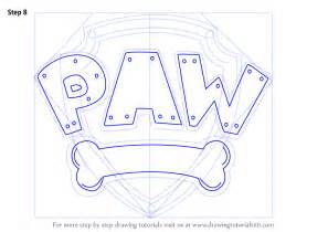 How to Draw PAW Patrol Badge