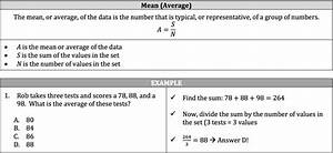 ISEE Math Review - Mean, Median, Mode, Range, and Weighted ...