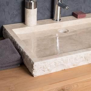 Grande Vasque À Poser : vasque poser en marbre cosy ronde cr me d 70 cm ~ Melissatoandfro.com Idées de Décoration
