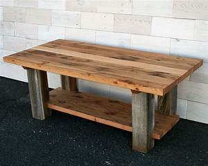 hand made reclaimed fir and barn wood coffee table by With custom barnwood tables