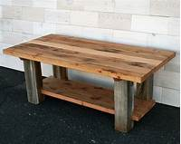 barn wood tables Hand Made Reclaimed Fir And Barn Wood Coffee Table by ...