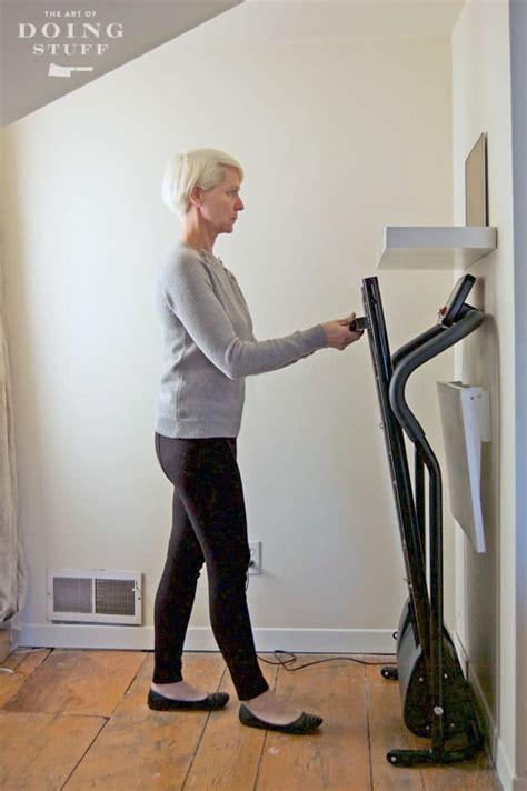 diy walking desk     includes  treadmill