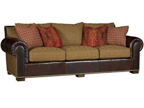 leather and fabric sofa king hickory living room arthur leather fabric sofa 1500