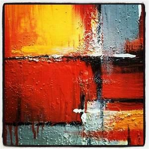 Tableau Peinture Sur Toile : tableau peinture acrylique abstrait ~ Teatrodelosmanantiales.com Idées de Décoration