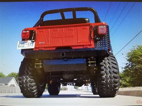 big red jeep big red beast 1976 jeep cj monster truck for sale