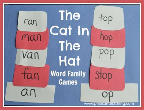 word family hats with the cat in the hat the pleasantest 871 | Cat in the hat game WM