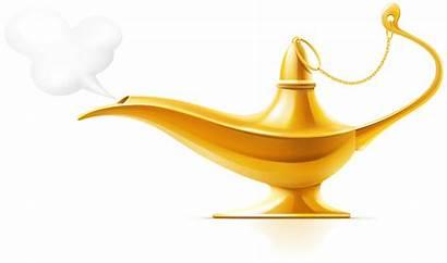 Lamp Magic Lampara Aladino Clipart Aladin Clip