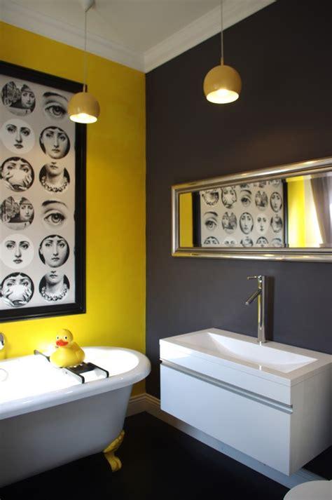 yellow and gray bathroom wall david dangerous grey grey and yellow grey interiors