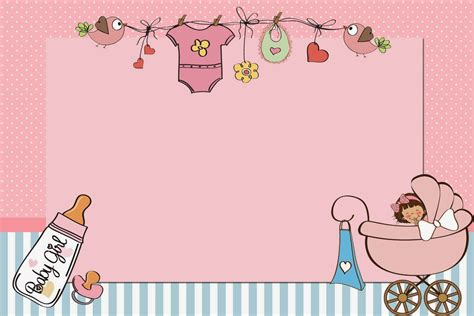 Baby Girl Free Printable Invitations Kartu bayi Kartu