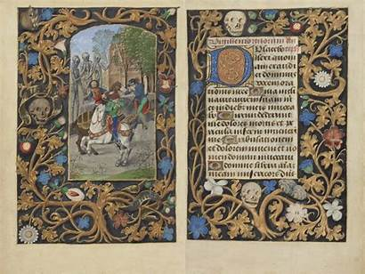 Death Medieval Three Dead Living Text Hours