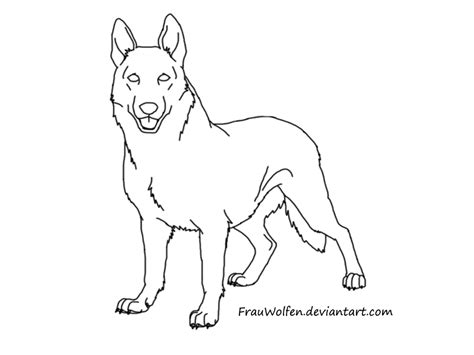 german shepherd coloring pages    print