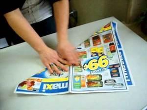 Comment Faire Un Sac : comment faire sac en papier pour la collecte des mati res organiques youtube ~ Melissatoandfro.com Idées de Décoration