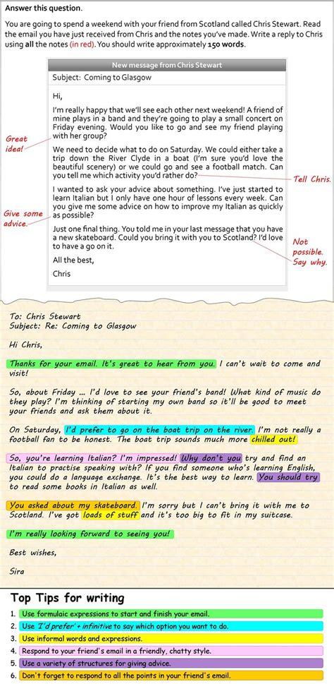 write  informal email english