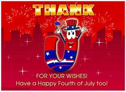 Thank July Fourth Ecard Card Thanku Cards