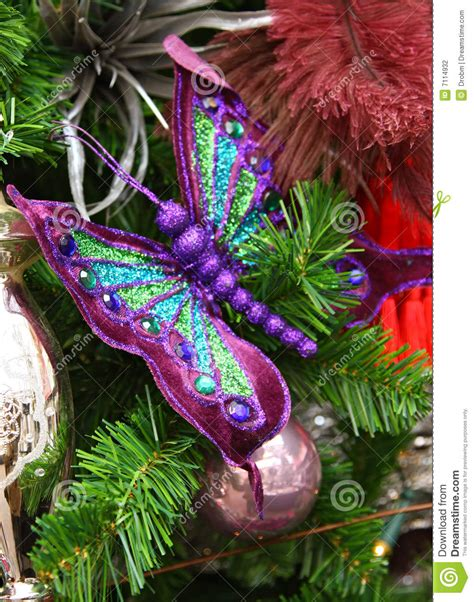 butterfly christmas decoration stock photography image