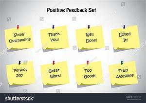 Simple Unique Positive Feedback Text, Notes Collection Set
