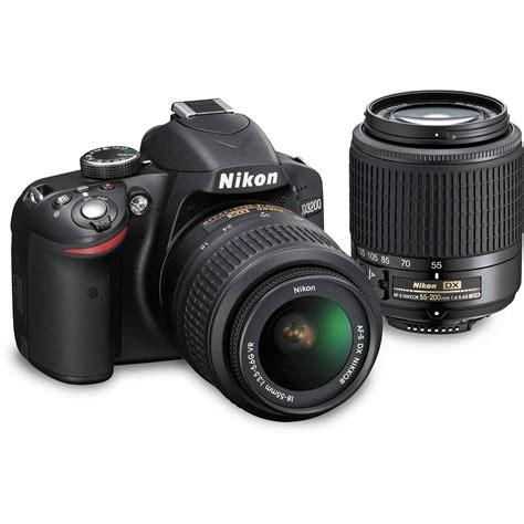 nikon d3200 dslr 18 55mm vr lens kit nikon d3200 dslr kit with 18 55mm vr and 55 200mm 13309