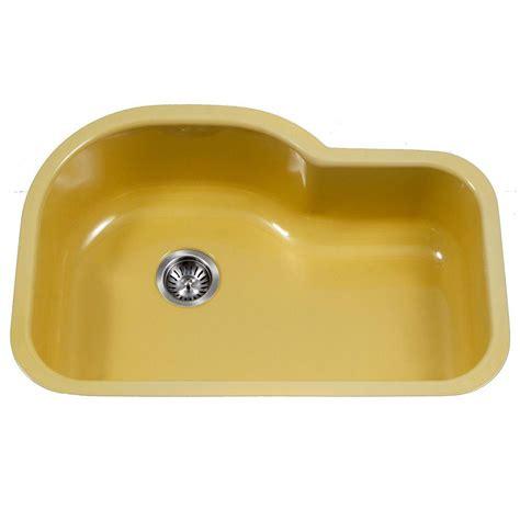 single bowl porcelain kitchen sink houzer porcela series undermount porcelain enamel steel 31 7955