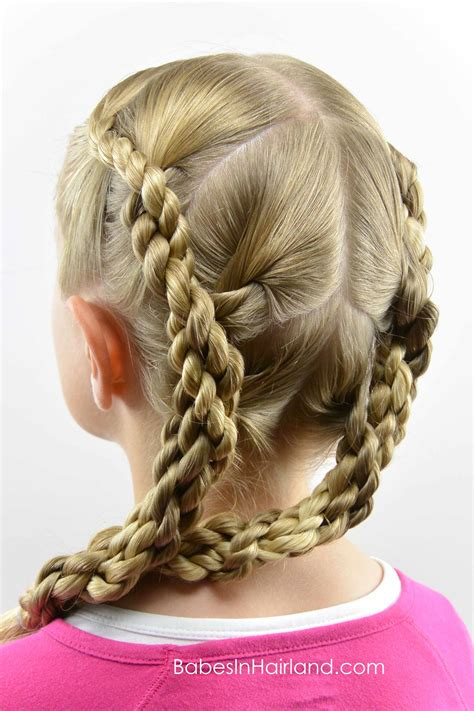 quadruple hawser twist hairstyle babes  hairland