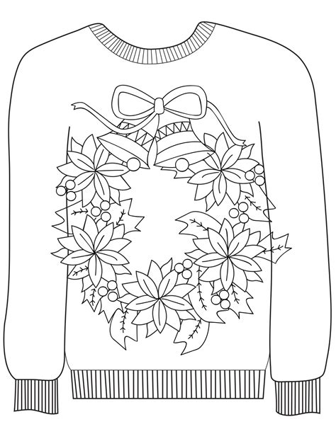 sweater template 16 sweater colouring pages in the madhouse