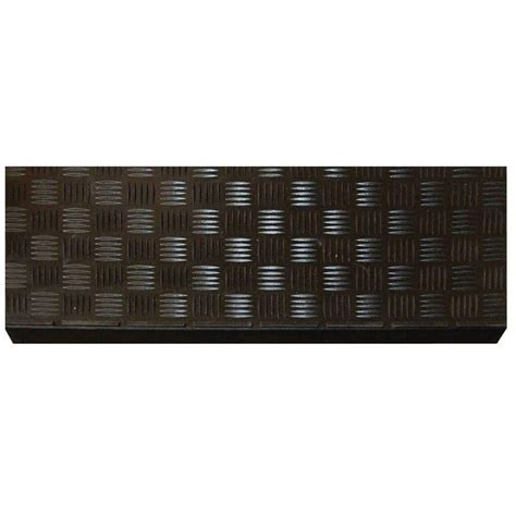 Multy Home Black Rubber 9 in. x 24 in. Square Stair Tread