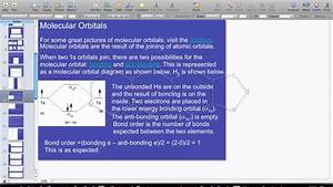 Molecular Orbital Diagrams - H2 And He2