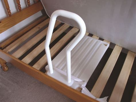 Bed Handrail - bed rail 2 in 1 for use with a divan or slatted bed