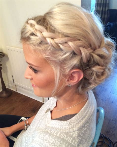 Plait Hairstyles For Hair by Wedding Hair Priory Cottages Bridal Updo Plait Plaits