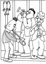 Jazz Band Coloring Pages Template Muppet sketch template