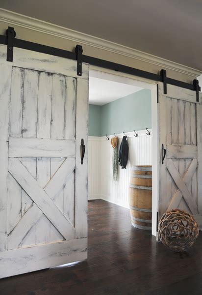 white barn door modern and rustic interior sliding barn door designs
