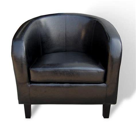 fauteuil andrew noir simili cuir achat vente fauteuil acacia massif simili cuir soldes