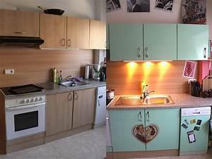 Küche Mit Folie Bekleben : k che im fifties style cedeko werbung ~ Michelbontemps.com Haus und Dekorationen