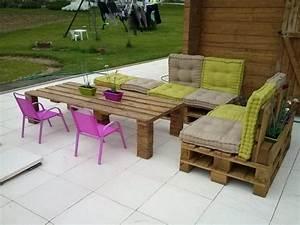 Palette Salon De Jardin : salon de jardin en palette en 20 id es tendance d couvrir vite ~ Nature-et-papiers.com Idées de Décoration