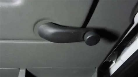 remove car door window crank roll  handle youtube