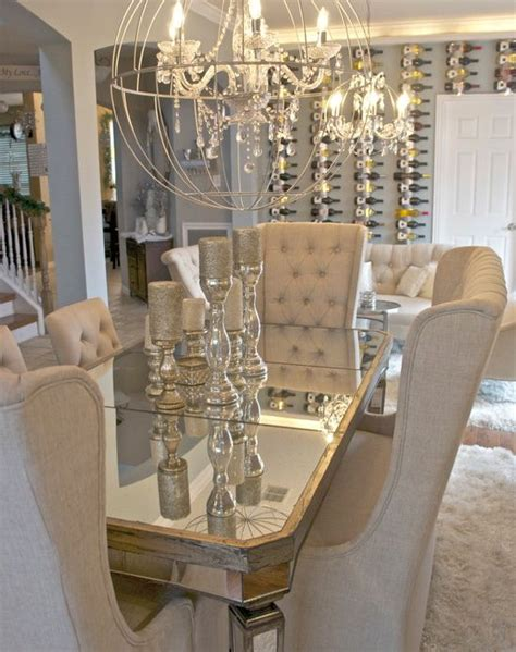 country centerpieces for dining room tables glam dining room i am obsessed with the table chairs