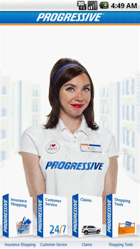 progressive releases car insurance app  android
