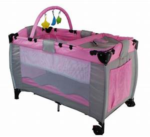 New Pink Portable Child Baby Travel Cot Bed Bassinet ...