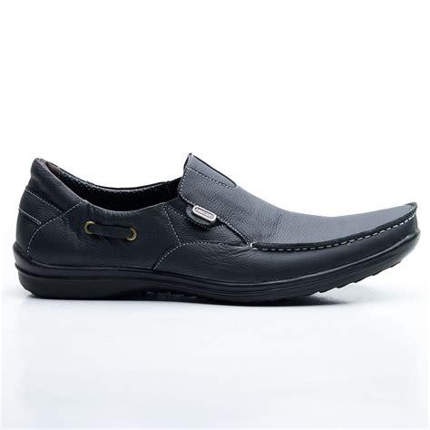 jual sepatu santai sepatu kulit pria slip on model casual