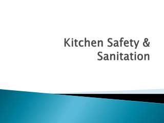 chapter  sanitation  kitchen safety powerpoint