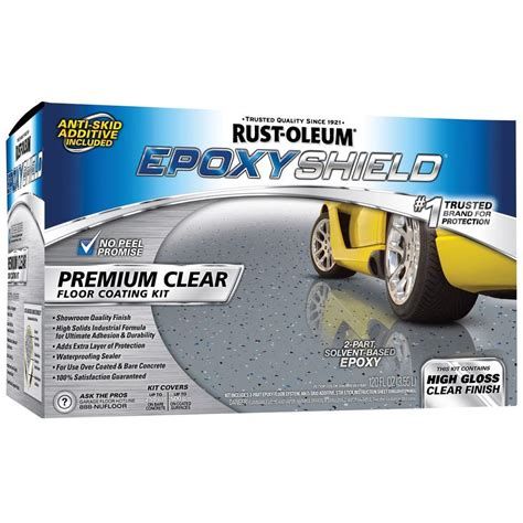 rustoleum garage floor clear coat rust oleum epoxyshield 1 gal premium clear coating 225225