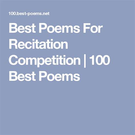 poems  recitation competition   poems