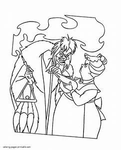 Cruella Deville Coloring Pages Coloring Pages