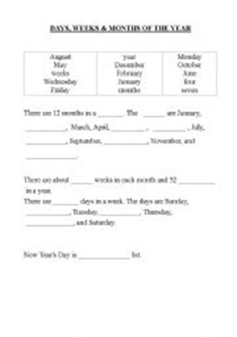 15 best images of days weeks and month worksheets in spanish worksheets days months years